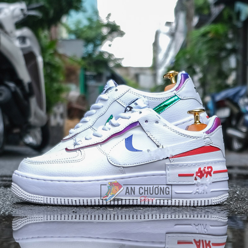 N Ike Air Force 1 Shadow Metalilc Swoosh An ChÆ°Æ¡ng Shoes The af1 shadows for women is a straight vibe. n ike air force 1 shadow metalilc swoosh